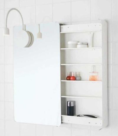 Armário com espelho IKEA Brickan, para casa de banho