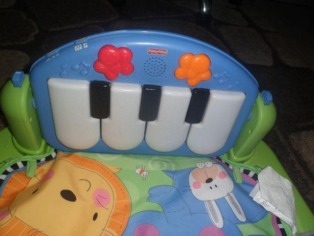 Mata edukacyjna Fisher Price z pianinkiem.