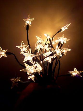 Lampki Świąteczne GWIAZDKI - JAK NOWE !!!