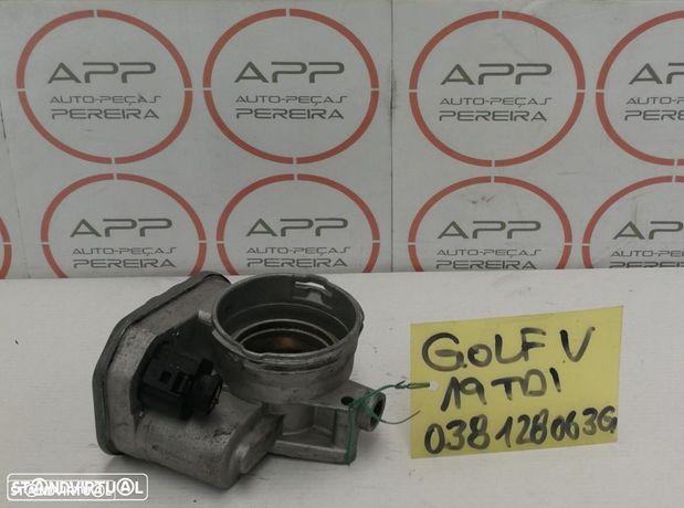 Borboleta de admissão VW Golf 5 1.9 tdi ref 038 128 063G.