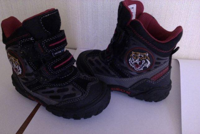 Кожаные зимние ботиночки для мальчика 22р.