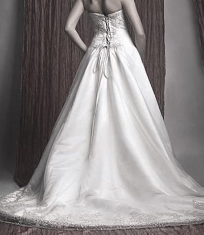OKAZJA Piękna Suknia Ślubna z TRENEM