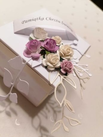 Kartka exploding box komunia, chrzest, ślub