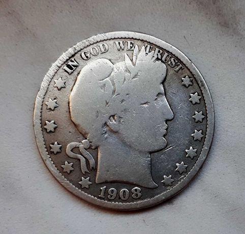 225) USA srebro - 1/4 Dollar - 1908 r. D