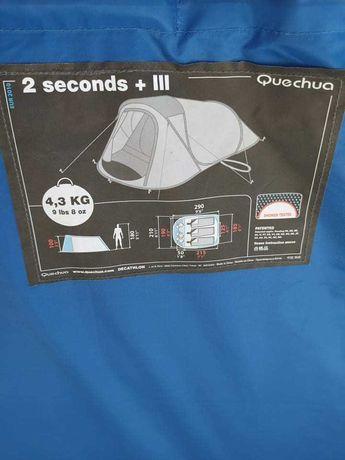 Tenda de campismo para 3 pessoas e avançado para malas