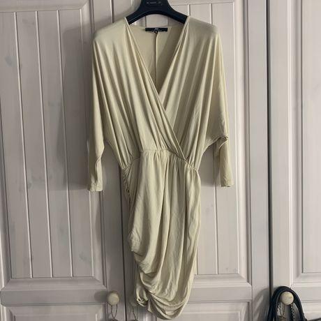 Jasno Beżowa Sukienka Elisabetta Franchi