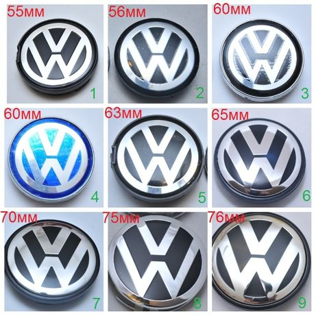 Колпачки/заглушки для дисков Volkswagen 55 56, 60 63, 65, 70, 75 76 VW