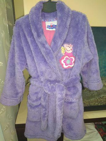 Махровый теплый, мягкий банный халат свинка Пеппа. Рост 90 см