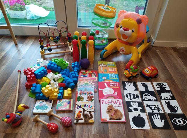 Zestaw zabawek i książeczek dla Malucha