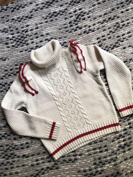 NEXT sweterek golfik ażurkowy 7 lat