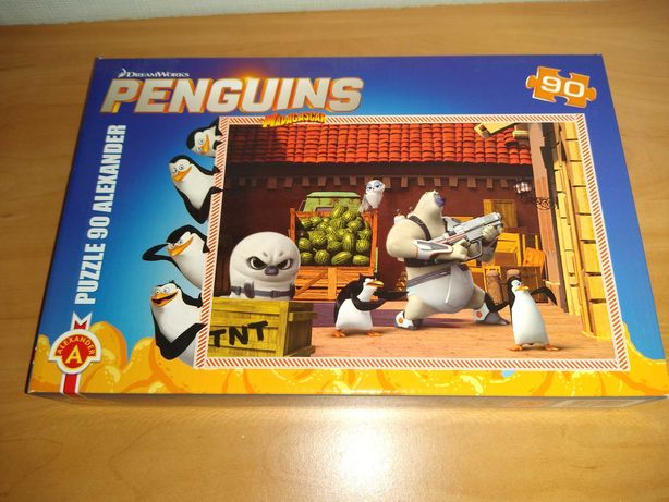 puzzle pingwiny z Madagaskaru 90 - Dreamworks