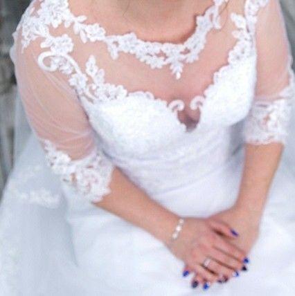 Suknia Ślubna* rozm. 38*koronka*