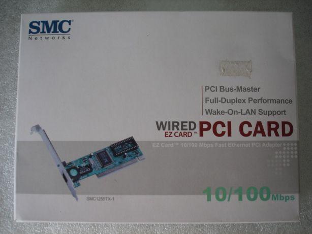 SMC-Placa de rede PCI 10/100 mbps - completamente nova