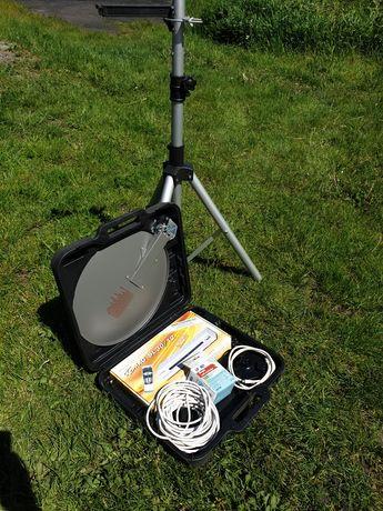 Zestaw antenowy do przyczepy lub na działkę