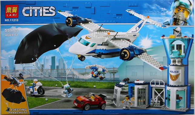 Klocki o jakosci lego Cities baza powietrzna