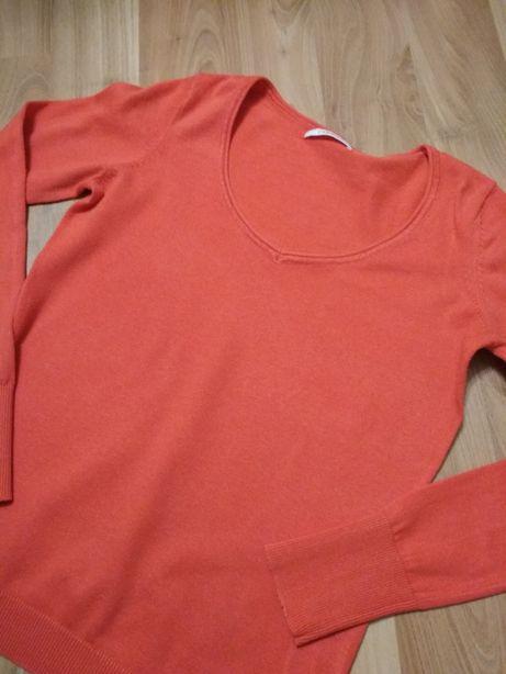 Sweter CAMAIEU rozmiar 34 kolor pomarańczowy, cegiełkowy