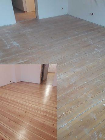 Cyklinowanie, Lakierowanie Renowacja podłóg drewnianych