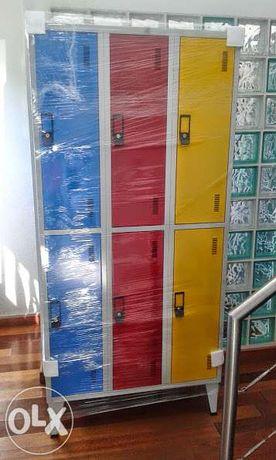 Vestiários e Cacifos (coloridos ou cinza vários preços e modelos)