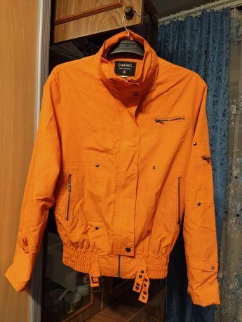 Ветровка куртка оранжевая 46р