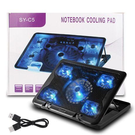 """Охлаждающая подставка для ноутбука SY-C5 5 вентиляторов до 17 """""""