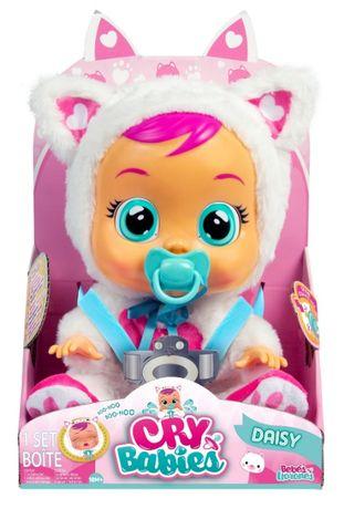 Интерактивная Кукла плакса Cry Babies Daisy Baby Doll Пупс котик Дейзи