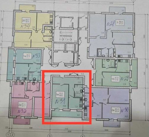 ЖК -ОАЗИС.  50м2. В продаже 1к квартира 40500$ Героев Труда . TZ
