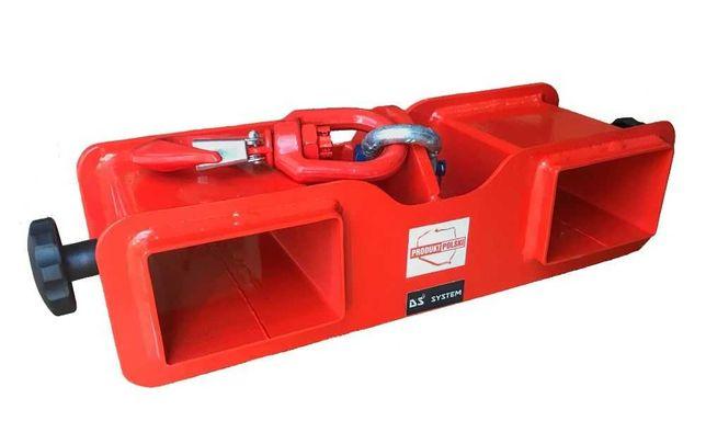 Uchwyt z hakiem zawiesie trawers na wózek widłowy - 2 tony