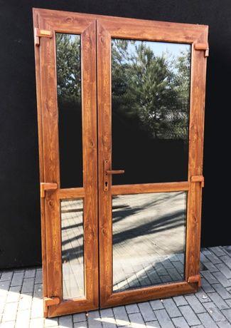 125X210 drzwi PCV ZŁOTY DĄB szyba nowe