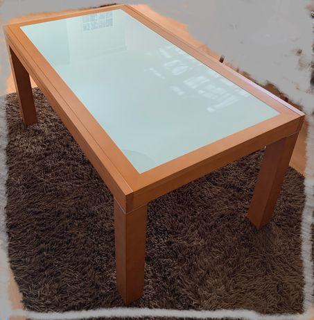 Mesa de jantar em cerejeira e vidro