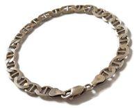 Wyrób jubilerski używany - srebrna bransoletka 22cm