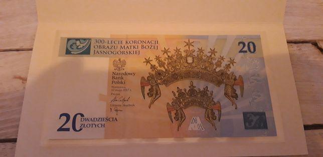Kolekcjonerski Banknot NBP 20 zł (cena ostateczna)