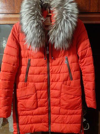Продам пуховик пальто с чернобуркой