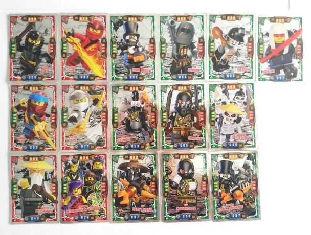 16 kart Lego Ninjago seria 4 SREBRNE karty 2019r.
