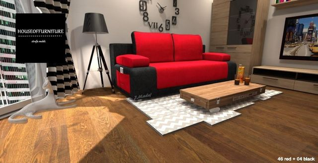 wersalka, sofa, kanapa rozkładana, łóżko KEVIN