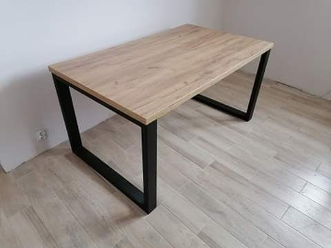 Stół loft nogi stalowe 140x90 do jadalni salonu