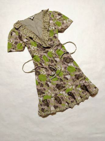 Платье хлопок мини туника сарафан