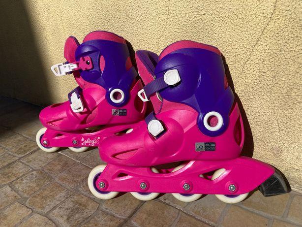 Patins de criança Oxelo Play3 rosa