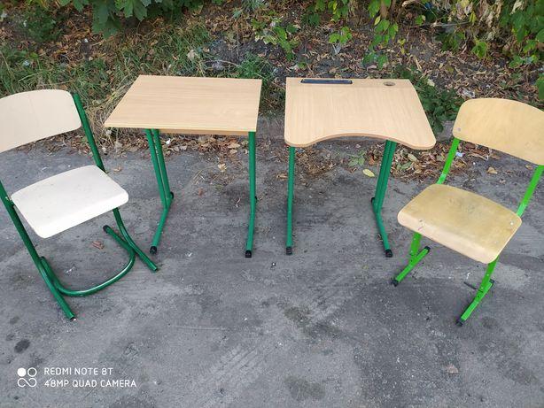 Школьная парта и ученический стул для НУШ с регулировкой высоты, компл