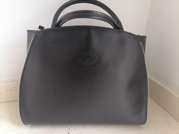 Włoska oryginalna torba torebka skóra Vera Pelle