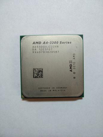 Процессор  AMD A-4-3300 series 2ядра 2,5 ГГЦ
