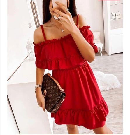 Sukienka czerwona hiszpanka, PAKUTEN. Wesele, święta
