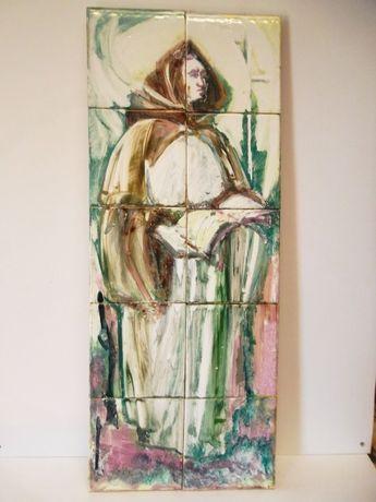painel de 10 azulejos pintados á mão-Anos 50-LUFAPO Coimbra