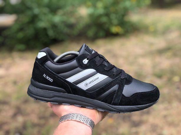 Акция!Мужские кроссовки Restime черные,41,42,43,44,45 демисезонные