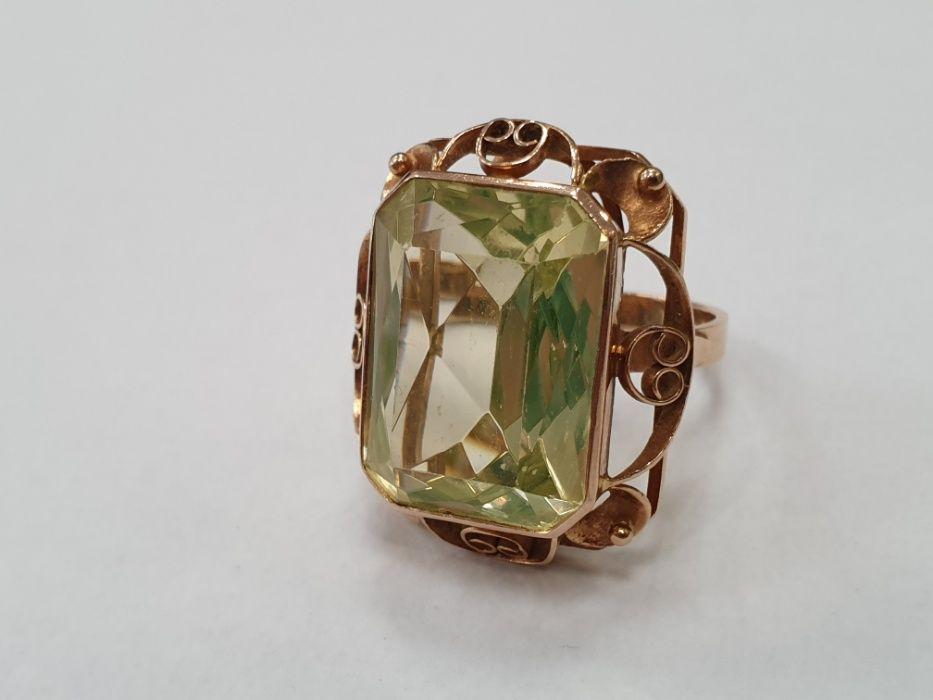 Retro! Bardzo duży złoty pierścionek damski/ 585/ 12.6 gram/ R18 Gdynia - image 1