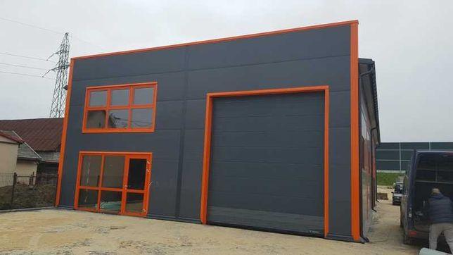 hala, magazyn, garaż, budynek z płyty warstwowej, konstrukcje stalowe