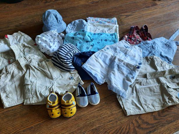 Ubranka letnie, szorty chłopięce 68-74