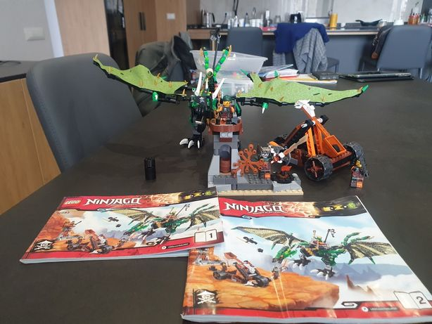 Lego ninjago 70593 зелёный дракон