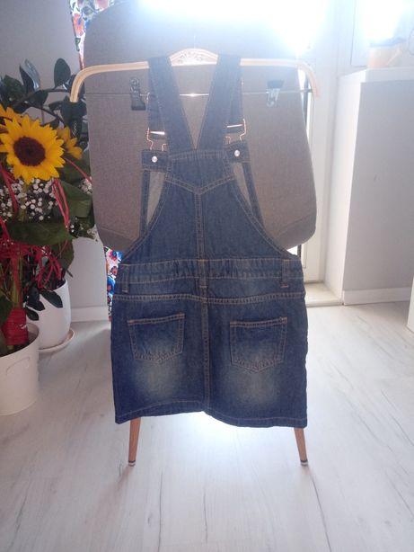Spódniczka ogrodniczka primark 122 jeansowe dziewczęce