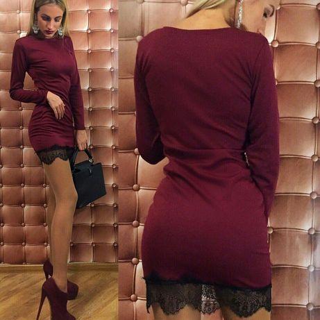 Платье бордо, черное, хаки...