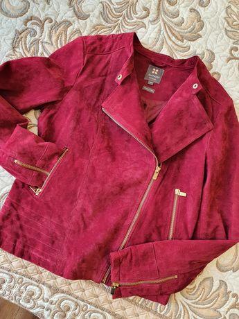 Натуральная замшевая куртка косуха